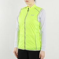 Wholesale reflective jersey resale online - Women s Outdoor Sportswear Sleeveless Cycling Vest Windproof Pro Bike Bicycle Jersey Running Hiking Reflective Clothing