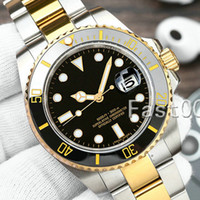 Wholesale mens watches for sale - Group buy Luxury Ceramic Bezel New Mens Mechanical SS Automatic Movement Watch Designer Sports Fashion men Master Watches Wristwatches vakcak