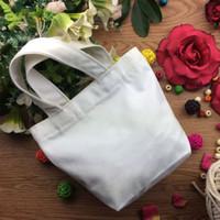 ingrosso contenitore di tela-Sacchetto di picnic portatile bianco puro di 23 * 21 * 10cm Sacchetto di immagazzinaggio normale del pranzo del sacchetto della tela di canapa del sacchetto della tela di tela del cotone normale QW9118