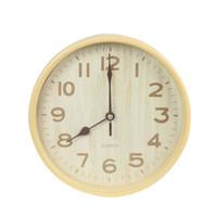 büyük duvar saati sessiz toptan satış-Sıcak Satış Büyük Duvar Saati Modern Tasarım İmitasyon Ahşap Asılı Vintage Sessiz Duvar Saati Dekor İzle Ahşap Ev Dekor