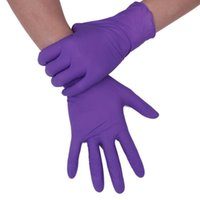 Wholesale rubber work gloves for sale - Group buy 50 purple Disposable Gloves Latex Dishwashing Kitchen Work Rubber Garden Gloves Universal For Left and Right Han Accessories Tool