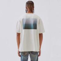 erkekler için serin yaz gömlekleri toptan satış-TANRI Essentials Boxy Fotoğraf tişört SİS Yeni Klasik Casual Kısa Kollu Sokak Hip Hop Erkekler Kadınlar Yaz Tee Serin HFYMTX446 OF 19SS KORKUSU