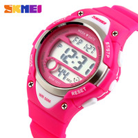 kinder mädchen uhren digital groihandel-SKMEI Outdoor Sports Kinderuhren Boy Alarm Digitaluhr Kinder Stoppuhr Wasserdicht Mädchen Armbanduhren montre enfant 1077