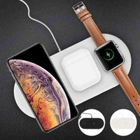 Wholesale iphone charge base for sale – best Chargeur sans fil rapide trois en un pour Apple Iphone Iwatch Airpods Pro tablette support de bureau station de charge station de base
