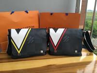 Wholesale briefcase wallet for sale - Group buy 2019 new Leather Mens Briefcase Casual Business Messenger Bag Vintage Men s Crossbody Bag Bolsas Male Wallets Men Bag