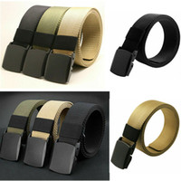 Stylish Unisex Mens Womens Army Tactical Waist Belt Adjustable Canvas Belts Men Buckle Girdle Waistband 110CM