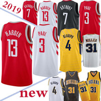8d92b35c134 TOP NCAA 13 Harden jerseys Houston 31 Miller Chris 3 Paul 4 Oladipo Hot  Sale Jersey 18 19 New 100% Stitched jersey