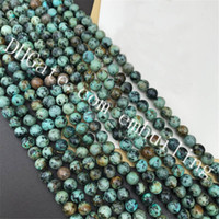Wholesale african loose beads resale online - 10 Strands Natural Stone African Turquoise Beads Round Spacer Loose Gemstone Craft Beads mm mm mm mm mm for Jewelry Making