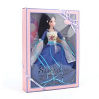 Barbie Puppe China Altes Kostüm Eine Puppe Blau Kleidung Zubehör Eine Puppe Geschenkbox Mädchen Haus Spielzeug Großhandel