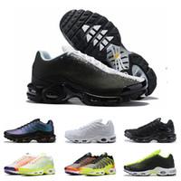 tn hombres zapatos deportivos al por mayor-nike air max tn plus hombre mujer Oreo REFRACT True Pink para hombre zapatillas deportivas transpirables tamaño Eur 36-45