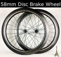 Wholesale ud wheels resale online - 700C mm Tubeless road bike disc brake carbon wheels dimple disk carbon wheelset D350 t240 hubs