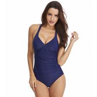 Wholesale spot jumpsuit for sale - Group buy Women Jumpsuits Spot of Designer Swimsuit Explosive Conjoined Women s Pure Color Sexy Bare Back Cross Swimwear Manufacturer