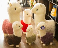 Wholesale Dorimytrader cm Lovely Alpaca kid Toy Large Stuffed Soft Plush Animal Sheep Alpaca Doll Colors Nice Kids Gift