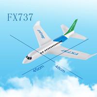 alas dron al por mayor-FX-737 480 mm envergadura Ala de ala de mano Ala fija RC Racing Avión Drone RC Aircraft DIY para niños