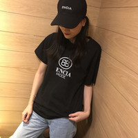 Wholesale long sleeves womens clothing resale online - 19SS Hot Sale Fashion Black and White Womens Designer T Shirts Letter Printing Pure Cotton Womens Designer Clothing