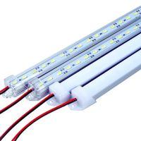 smd ışık şerit çubuğu toptan satış-50 CM LED Bar Işık 5630 36 LEDs DC12V Sert Sert LED Sert şerit Bar Işık Kabine Duvar Işık U Alüminyum kabuk ile + pc kapak