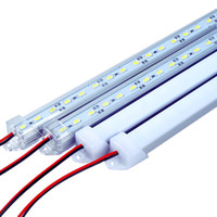 iluminación de aluminio al por mayor-50 cm luz de barra de LED 5630 36 LED DC12V rígido rígido LED tira de barra de luz luz de pared de gabinete de luz con carcasa de aluminio U + cubierta de pc