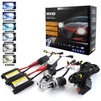 Wholesale halogen xenon headlights for sale - Group buy Xenon H7 W DC W Slim Ballast kit HID Xenon Headlight bulb V H1 H3 H11 h7 hid kit k k Replace Halogen Lamp