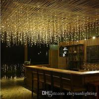 rgb führte vorhang lichter großhandel-Neujahr LED Vorhang Eiszapfen Lichterketten 5m 16.4ft Droop 96Led Fairy Garland Licht für Weihnachten Outdoor Dekoration