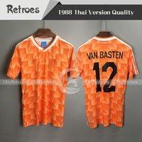 Wholesale netherlands football shirt for sale - Group buy 1988 Netherlands Retro soccer Jerseys Van Basten Soccer Jersey Seedorf Kluivert BERGKAMP Netherlands Classic Football Shirt