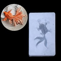 Wholesale pastry craft tools for sale - Group buy Hot Sale PC Goldfish Pendant Liquid Silicone Mold DIY Resin Jewelry Making Craft Tool Cake Fondant Baking Pastry Decor