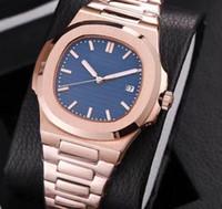 золотые часы оптовых-Розовое золото Роскошные часы мужские часы с автоматическим механизмом Glide sooth секундная стрелка из сапфирового стекла серебряные часы наручные часы высокого качества