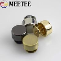 bolsa de metal al por mayor-Meetee 30 unids Bolsa de Metal Combinado Botón Satchel Mushroom Decorativo Pie Nail Buckle DIY Hardware Accesorios de Remache de Cuero G8-1