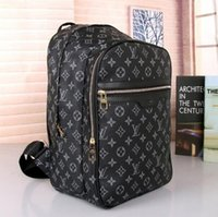 Wholesale men male backpack resale online - SALE Designers Backpack Mens Luxury Backpack hot Brand Double Shoulder Bags Male Brand School Bags Leather Shoulder Bag Hot