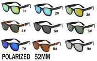 monture noire pour homme achat en gros de-été nouvelle mode lunettes de soleil polarisées à l'extérieur pour les hommes et les femmes Sport unisexe lunettes de soleil Black Frame Lunettes de soleil 52mm FREE SHIP