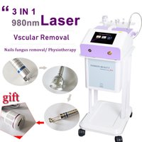 láseres de diodo médicos al por mayor-980 nm diodo médico láser fisioterapia cuerpo láser eliminación vascular 980 nm diodo médico láser vascular uso doméstico