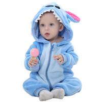 kinder stern pyjamas großhandel-Blue star Kids Pyjamas Kinder Tier Nachtwäsche Robe Jungen Mädchen Lustige Decke Sleepers Baby Flanell Onesies für Kind 1-24month JY-009