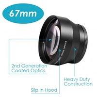 câmera de telefoto freeshipping venda por atacado-Freeshipping new 67mm profissional de alta definição 2.2x teleobjectiva teleobjectiva para canon nikon sony câmera pentax olympus