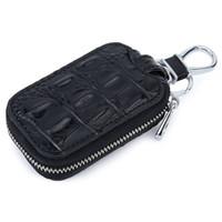 vintage çanta paralı anahtarlık toptan satış-2019 Moda Erkekler Hakiki Deri Timsah Desen Araba Anahtarlık Yüzük Cep Çanta Anahtarlık Cüzdan Cüzdan Kılıf Kapak Coin için