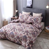 Wholesale western style beds for sale - HM Life Bedding Set for Living Room Bed Line Set Western Reactive Printing Polyester Quality King Queen Duvet Cover Set