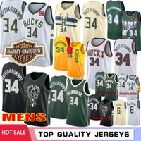 camisetas de baloncesto juvenil al por mayor-Logotipo de la NCAA Giannis 34 Antetokounmpo hombres hijos jerseys del baloncesto retro púrpura Ray Allen 34 Eric Bledsoe 6 Hombres Jóvenes bordada los jerseys