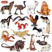 ingrosso animali da miniera giocattolo-Action Figures Toy Oenux Forest Animals Lucertola Bat Snake Action Figure Fattoria Mucca Mucca Maiale Gatto Cavallo Figurine Miniature Collection