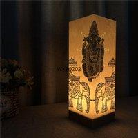 lâmpada de luz de buddha venda por atacado-Presente de aniversário criativo Warm White Buddha Papel Sombra USB Night Light Sala Principal Atmosfera Lamp Crianças de 1065