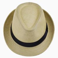LNPBD Hot Unisex Mulheres Homens Moda Verão Casual Na Moda Praia Sun Palha  Panamá Chapéu de Jazz Chapéu de Cowboy Fedora Gangster Cap C18122501 3df9a6a34f4
