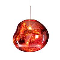 yatak odası için modern lambalar toptan satış-Erime Kolye Işıkları Cam Lav Düzensiz Asmak Lamba Oturma Odası Yatak Odası Lamba Restoran Ev Aydınlatma için