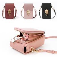 Wholesale cross shoulder cell phone bags resale online - Design Women Handbags Korean Mini Bag Cell Phone Bags Simple Robot Small Crossbody Bags Fashion Ladies Flap Shoulder Bag V191209