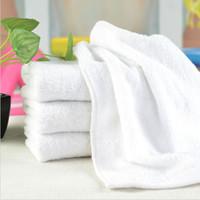ingrosso asciugamano promozionale-Nuovo cotone da bagno Asciugamano Washcloths Salon Spa Hotel White Beach P10 compressa 30 * 60cm 35pcs / lot
