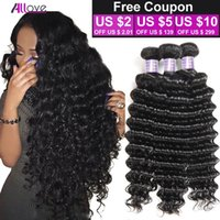 Wholesale hair dyed product resale online - 8A Malaysian Deep Wave Virgin Hair Bundles Malaysian Deep Curly Virgin Hair Bundles Allove Products Brazilian Deep Wave Hair Bundles