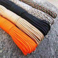Wholesale paracord lanyard resale online - FT M Paracord Parachute Cord Lanyard Rope Mil Spec Type III Strand Climbing Camping survival equipment