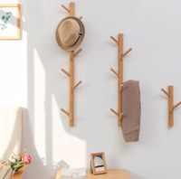 Wholesale wall hanging storage for home resale online - Baffect Wood Wall Hanger Wall Hook Wood Clothes Hangers Storage Rack Home Decor Hooks For Hanging Coat Hats Decorative Hooks