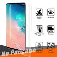 прозрачная пленка с сенсорным экраном оптовых-Для Samsung Galaxy S10 Plus S10 E полный охват High Clear Передний сенсорный Friendly Finger ID Мягкая TPU Защитная пленка для экрана Защитная пленка для экрана