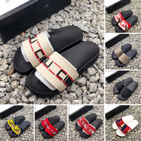 Wholesale womens black moccasin slippers for sale - Group buy With box slide summer luxury designer mens and womens beach indoor flat G sandals slippers house slippers with spike sandals vcemcp