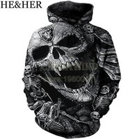 hoodie imprimé crâne pour femme s achat en gros de-Nouveau mode Oakland Raider Hoodies hommes / femmes sweat à capuche cool Skull Imprimé 3d pull à capuche hip hop streetwear tops