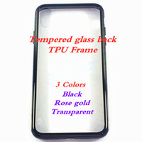 Wholesale transparent phone prices online – custom Cheapest Factory Price Transparen Black Rose gold Tempered Glass TPU Phone Case For iPhone P p X XS XR XS MAX