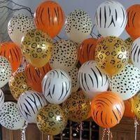 Wholesale safari animals resale online - Birthday Animal Latex Balloons Tiger Zebra Dog Safari Party Jungle Party ballons Birthday Party Decor Kids birthday Globos