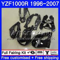 Wholesale 1997 yamaha yzf fairings resale online - Body For YAMAHA Thunderace YZF1000R HM Glossy black YZF R YZF R Fairings kit